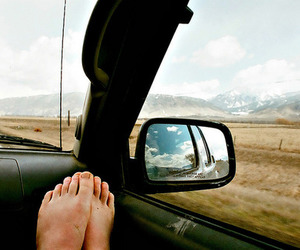 travel, feet, and indie image