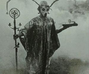 black and white, gif, and creepy image