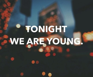 tonight, quote, and young image