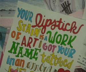 art, lyric, and song image