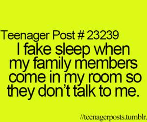 true, sleep, and teenager post image