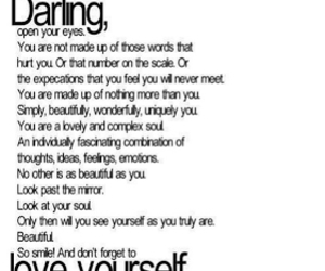 quotes, darling, and love yourself image