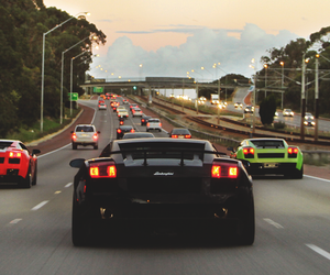 car, road, and Lamborghini image