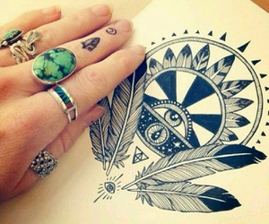 drawing, tattoo, and draw image