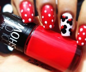 mickey, minnie, and nail art image
