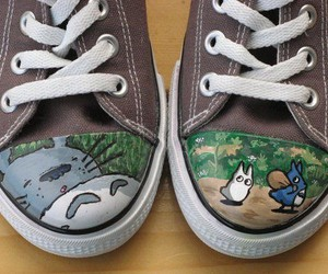 shoes and totoro image