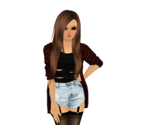 imvu, noob, and sexy image