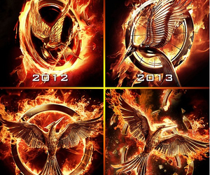 book, catching fire, and movie image