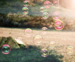 soap bubbles, summer, and sun image