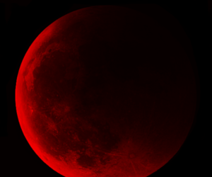 moon, red, and red moon image