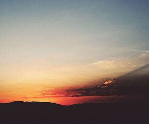 sunset, nature, and landscape image