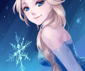 anime, elsa, and frozen image