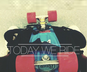 skate, ride, and skateboard image