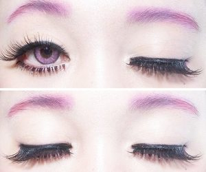 eyes, purple, and kawaii image