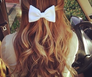 bow, cute, and curls image