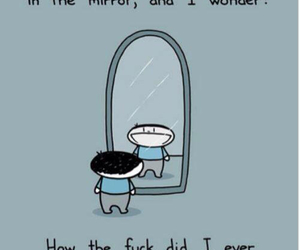 awesome, mirror, and funny image