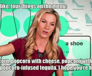 funny, girl code, and popcorn with _____ image