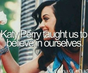 katy perry, believe in yourself, and lovepurrfect image
