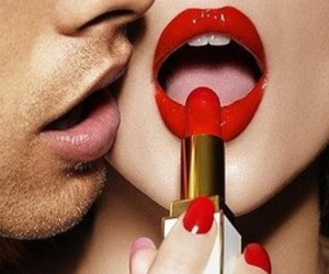 lips, red, and boy image