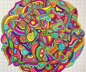 colors, drawing, and art image