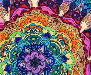 colors, mandala, and colorful image