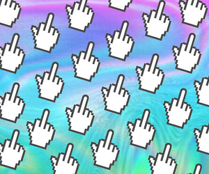 colorful, tumblr, and middle finger image