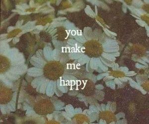 happy, love, and flowers image