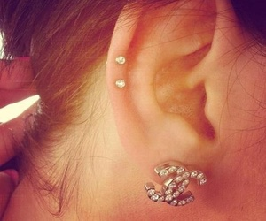 piercing, ear, and chanel image