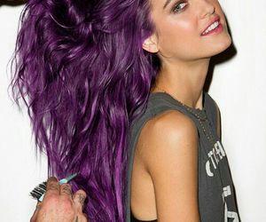 color, hair, and morado image