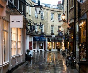 street, city, and rain image