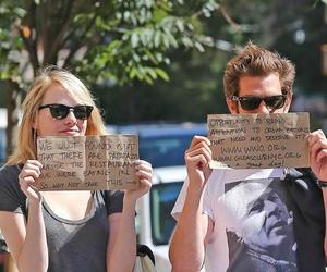 emma stone, paparazzi, and couple image