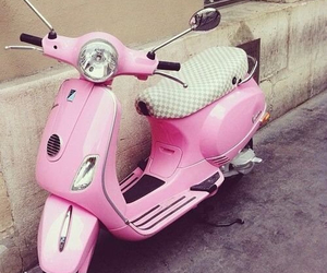 pink, scooter, and cute image