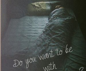 love, quotes, and bed image