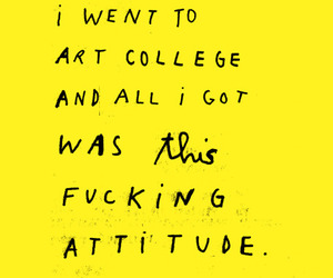 art, attitude, and yellow image