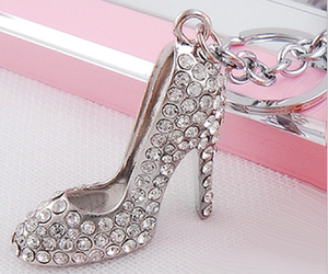 cute keyring, high heels key ring, and high heeled keychain image