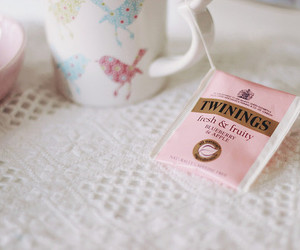 tea, pink, and love image