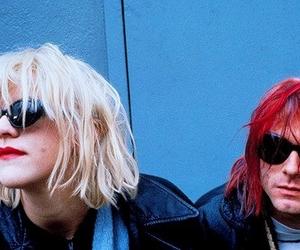 kurt cobain, Courtney Love, and grunge image