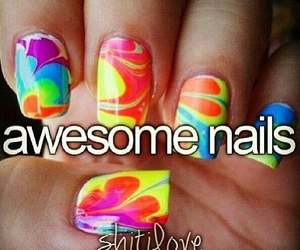 awesome, colourful, and nails image
