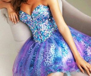 colourful, blue, and dress image