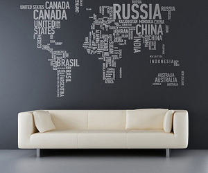 world, map, and wall image