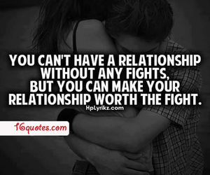 Relationship, quote, and fight image