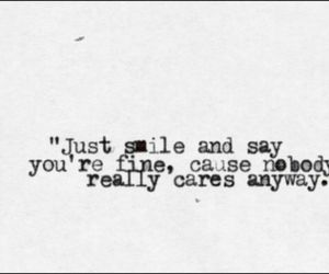 quote, smile, and sad image