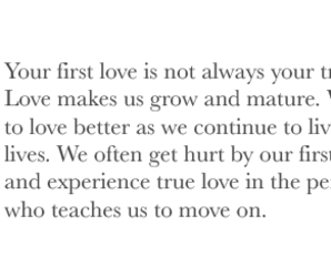 first love, so true, and text image