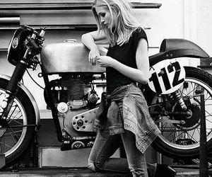 black n white, girl, and rocker image