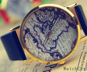 fashion, map watch, and girl image