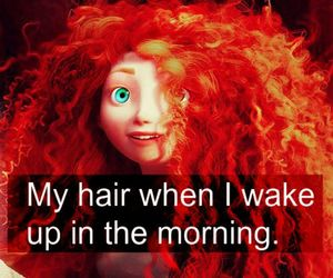 girl, hair, and morning image