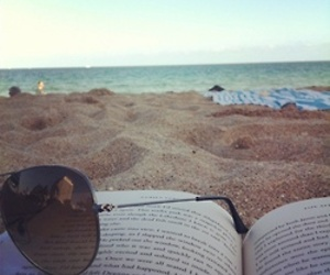 beach and book image