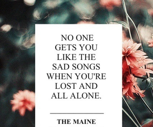 sad, song, and quote image