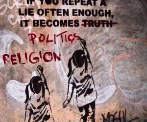 lie, politics, and religion image