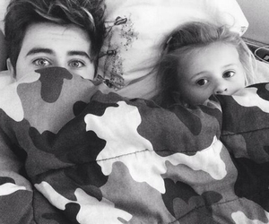 black and white, nashgrier, and brother and sister image